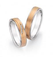 Trauringe Ruesch Stahl/585 Gold - 88/24150-24160-045