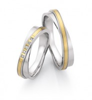 Trauringe Ruesch Stahl/585 Gold - 88/24050-24060-050