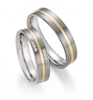 Trauringe Ruesch Titan/585 Gold - 78/10050-10060-050