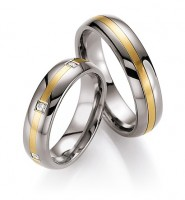 Trauringe Ruesch Titan/585 Gold - 78/80050-80060-055