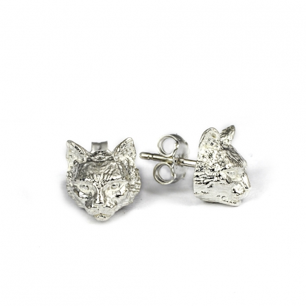 Dog-Cat-Fever-Ohrringe-orecchini-muso-norvegese-argento