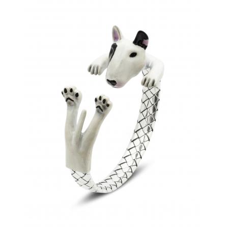 Dog-Fever-Hunderinge-enamelled-hug-bracelet-bull-terrier