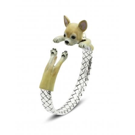 Dog-Fever-Hunderinge-enamelled-hug-bracelet-chihuahua
