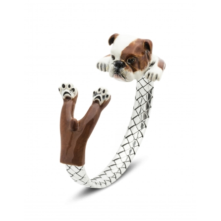 Dog-Fever-Hunderinge-enamelled-hug-bracelet-english-bulldog